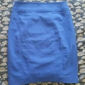 EUC Express Cobalt Blue Pencil Skirt